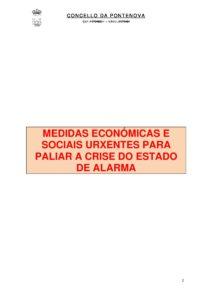 MEDIDAS URXENTES EXTRAORDINARIAS PARA FACER FRONTE AO IMPACTO ECONÓMICO E SOCIAL DO COVID-19