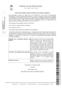 ANUNCIO CONSULTA PUBLICA ORDENANZA XERAL REGULADORA DO USO COMÚN ESPECIAL DO DOMINIO PÚBLICO LOCAL POLAS ACTIVIDADES EXTRACTIVAS DE MADEIRA NOS MONTES E ESPAZOS FORESTAIS E POLAS CANTEIRAS