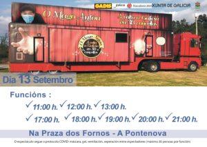 TEATRO NA PONTENOVA – DOMINGO 13 DE SETEMBRO  NA PRAZA DOS FORNOS – CONSULTAR HORARIOS NO CARTEL