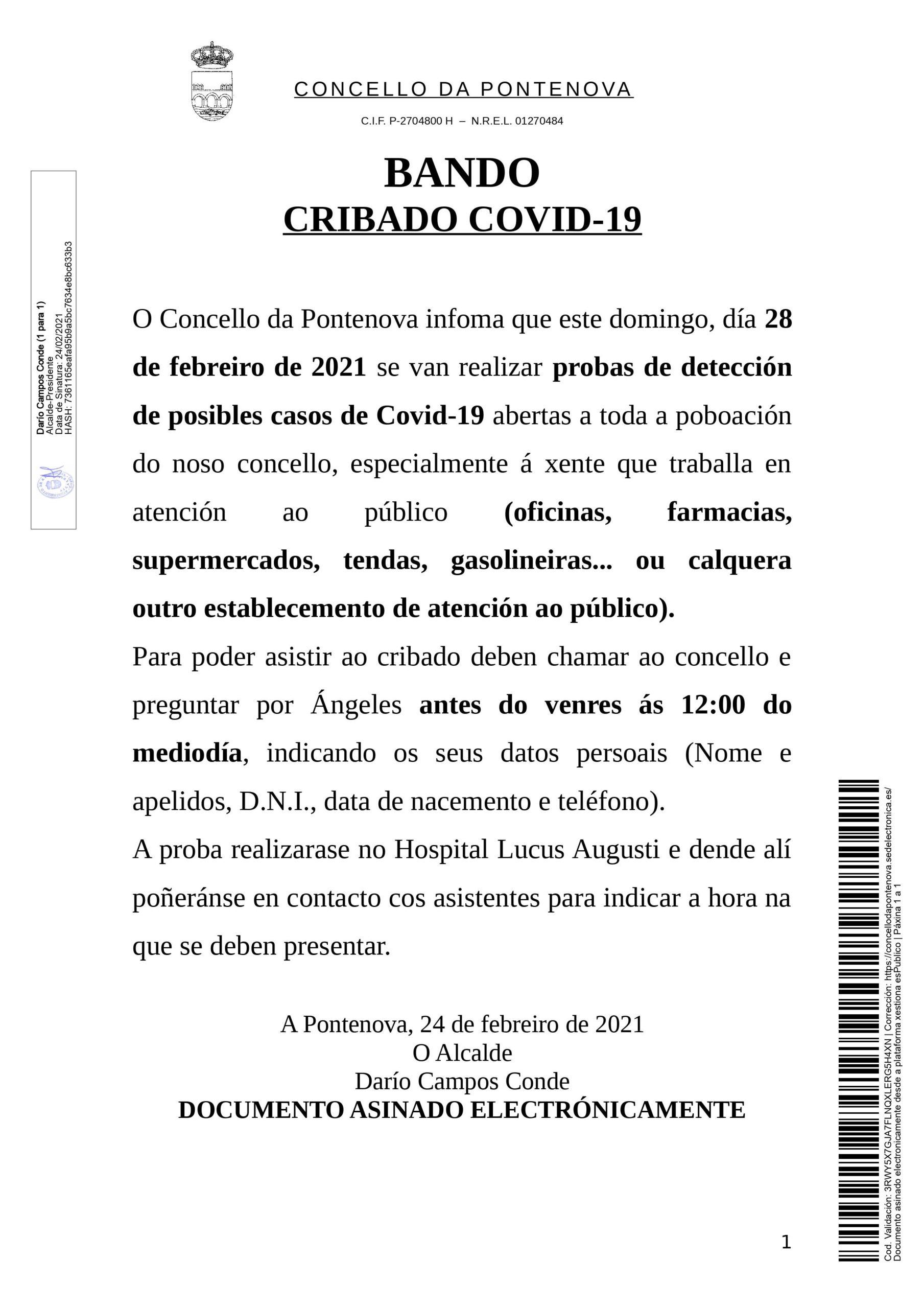 CRIBADO COVID-19 DOMINGO 28/02/2021