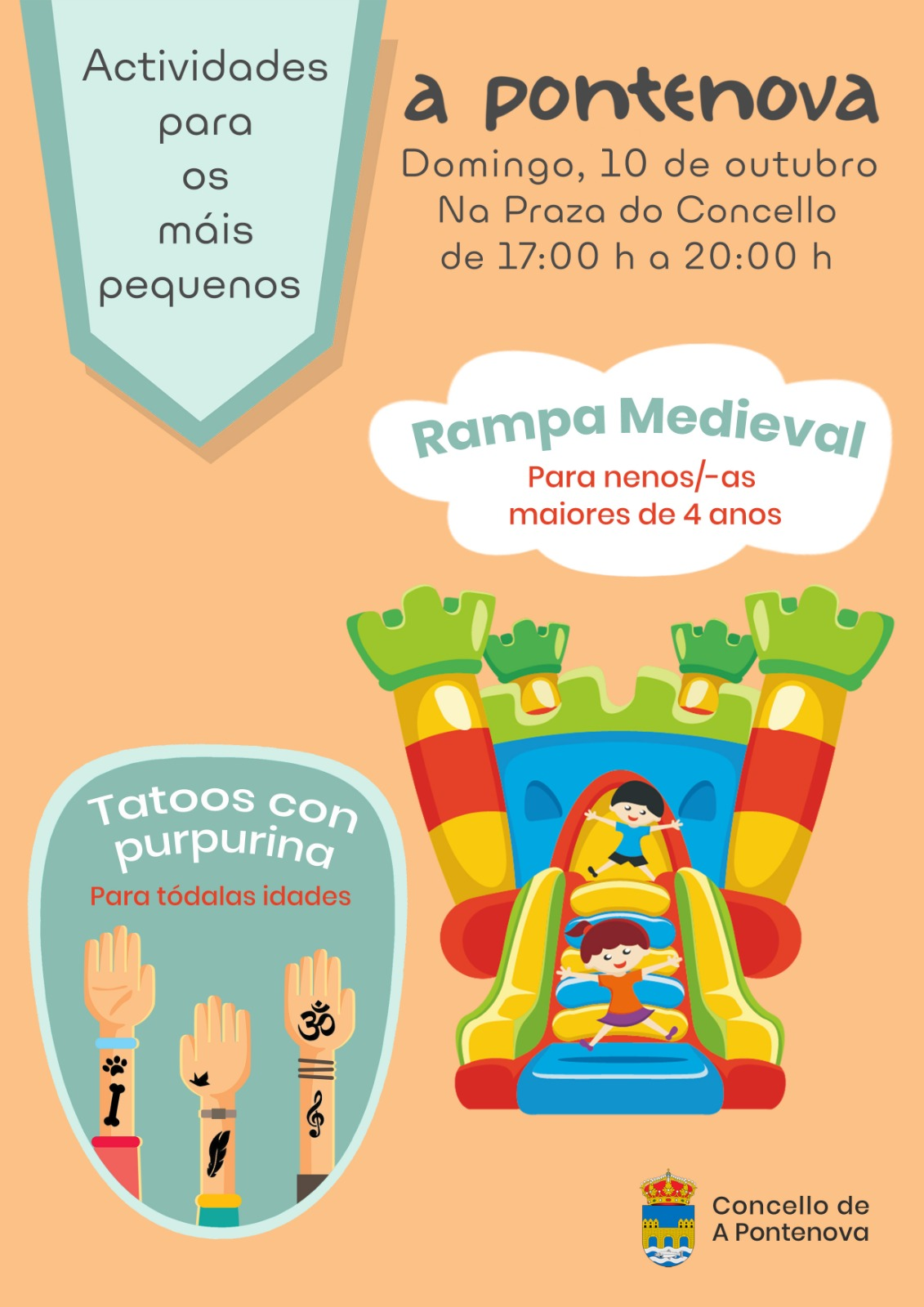 ACTIVIDADES PARA OS MÁIS PEQUENOS DOMINGO 10/10/2021